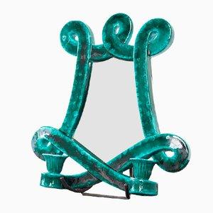 Französischer Keramik Spiegel von Giraud, 1960er