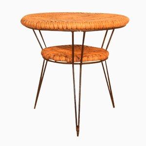 Tavolino da caffè geometrico in bamboo e metallo di Janine Abraham & Dirk Jan Rol per Edition Rouger, anni '50