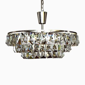 Austrian Large Crystal Chandelier from Bakalowits & Sohne, 1960s