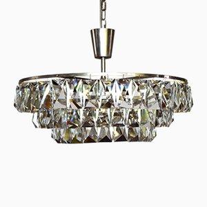 Lámpara de araña austriaca grande de cristal de Bakalowits & Sohne, años 60