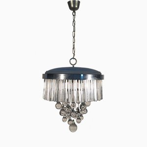 Italian Glass and Metal Chandelier from Sciolari, 1960s