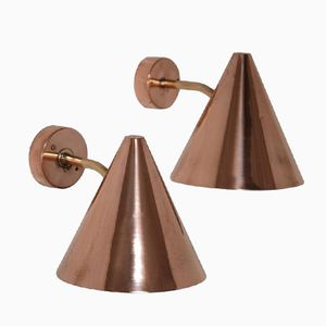 Brass & Copper Wall Light by Hans Agne Jakobsson, 1960s, Set of 2