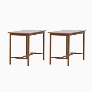 Swedish Mahogany Side Tables by Josef Frank for Svenskt Tenn, 1950s, Set of 2