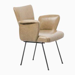 Niederländischer Stuhl aus Leder & Metall von WH Gispen für Kembo, 1950er