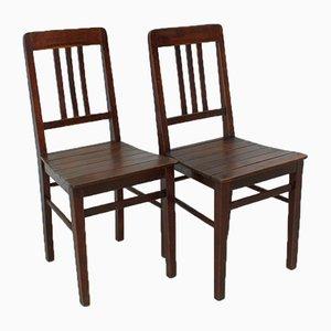Sedie vintage in legno, anni '20, set di 2