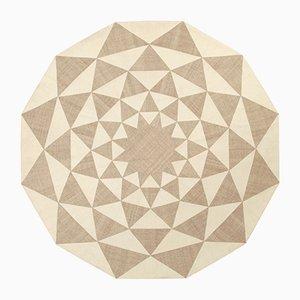 Alfombra Kilim vintage con composición geométrica