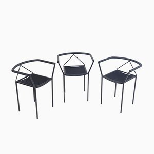 Poltroncina Armchairs by Maurizio Peregalli for Zeus, 1984, Set of 3