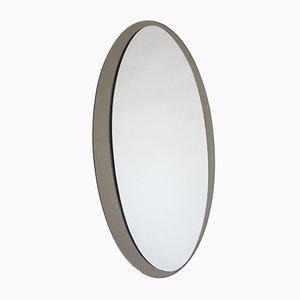 Mid-Century Elliptical Italian Mirror