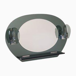 Miroir Mid-Century avec Appliques et Console, Italie