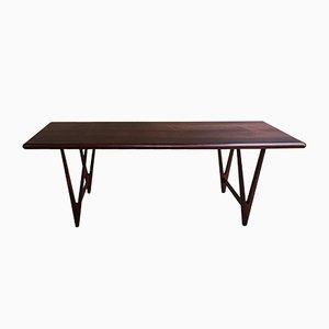 Grande Table Basse en Palissandre par E. W. Bach pour Toften Møbelfabrik, Danemark