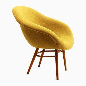 Sedia a conchiglia in fibra di vetro, anni '60
