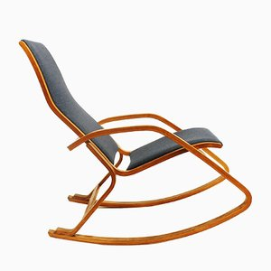 Czech Bentwood Rocking Chair from NP Dřevona, 1970s