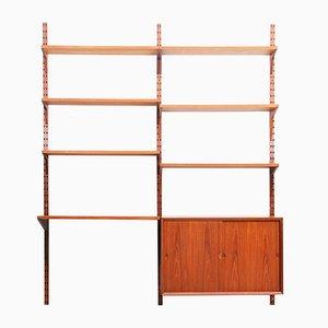 Libreria modulare Mid-Century in teak di Poul Cadovius per Cado