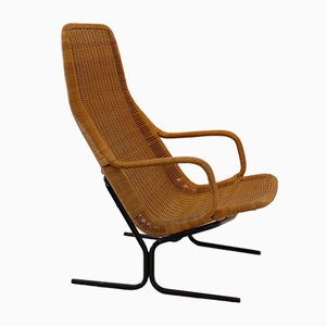 Model 514 Wicker Lounge Chair by Dirk van Sliedregt