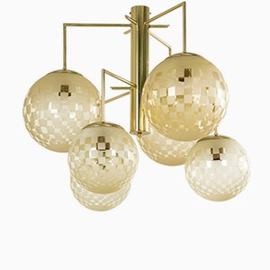 Lámpara de araña italiana contemporánea de cristal de Murano, 2016