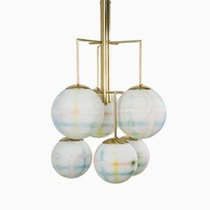 Lámpara de araña italiana de cristal de Murano, 2016