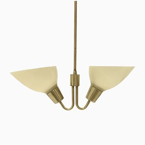 Mid-Century Scandinavian Brass Ceiling Light, 1960s