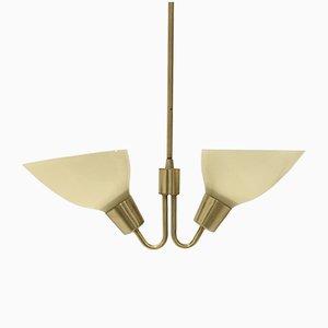 Skandinavische Mid-Century Messing Deckenlampe, 1960er