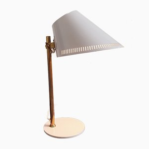 Model 9227 White Desk Lamp by Paavo Tynell for Idman, 1950s