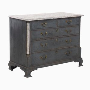 Antique Dresser with Faux Painted Marble Top