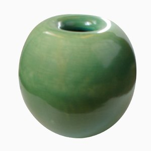 Green Ceramic Vessel by Gio Ponti for Richard Ginori, 1930s