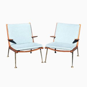 Boomerang Armchairs by Peter Hvidt & Orla Mølgaard-Nielsen for France & Son, 1960s, Set of 2