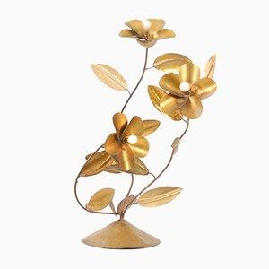Lampe Vintage Fleur en Cuivre