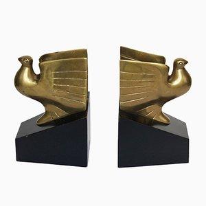 Sujetalibros estadounidenses Art Decó con forma de pichón, años 30