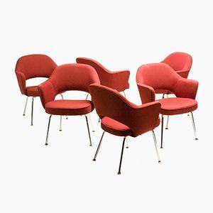 Poltrone esecutive serie 71 di Eero Saarinen per Knoll, set di 6