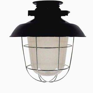 Lámpara de techo industrial vintage esmaltada