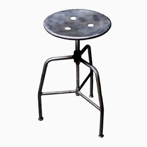 Polish Steel Doctor's Stool, 1960s