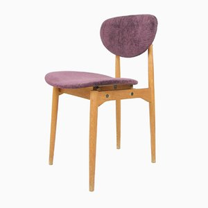 Italian Wooden Purple Chair, 1950s