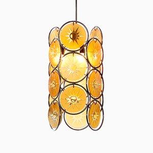 Lámpara colgante de 3 luces, años 50