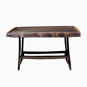 Table Vintage en Tonneau de Chêne