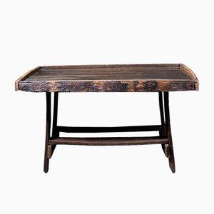 Tavolo vintage realizzato da botte in quercia
