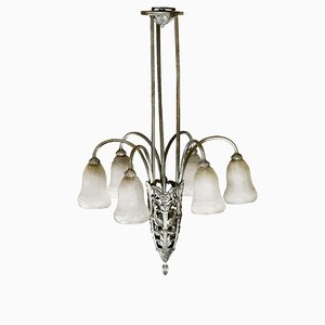 Art Deco French Chandelier, 1930s