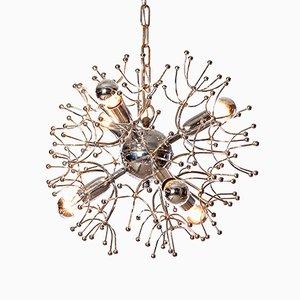 Lámpara de araña Sputnik de 6 luces de Gaetano Sciolari, años 60