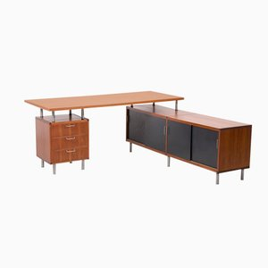 Dutch L-Shaped Desk by Cees Braakman for Pastoe, 1950s