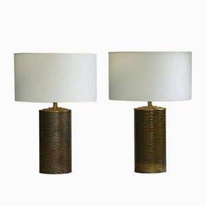 Finnish Brass Table Lamps, 1970s, Set of 2
