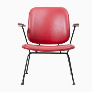 Red Easy Chair by W.H. Gispen for Kembo, 1954