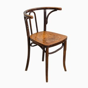 Art Nouveau Bentwood Chair with Embossed Seat, 1910s