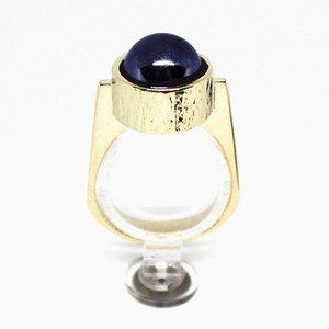 Ring aus 14 kt Gold, verziert mit Blutstein von KVA