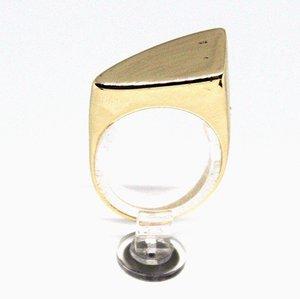 Anillo de oro 14k con diseño simple de Au