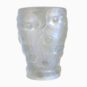 Vase Vintage Art Déco avec Décoration Cerise, 1930s