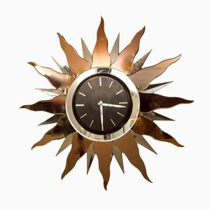 Large Art Deco Wall Clock, 1930s