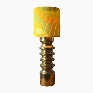 Lámpara de mesa alemana vintage de cerámica dorada, años 60