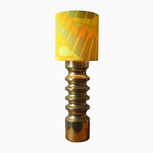 Vintage Gold German Ceramic Table Lamp, 1960s