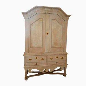 Antiker Barocker Schwedischer Schrank aus Eiche