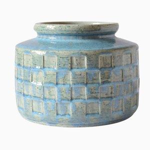 Vase Vintage Bleu par Per Linnemann-Schmidt pour Palshus, Danemark, 1960s