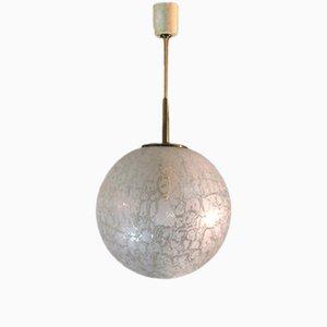Lampada da soffitto in vetro di Peill & Putzler, Germania, anni '70